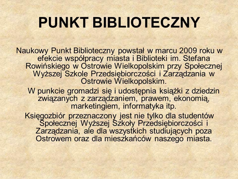 PUNKT BIBLIOTECZNY