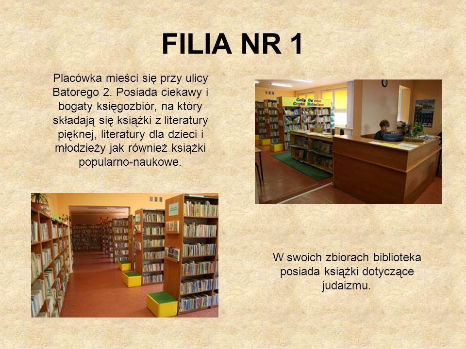 W swoich zbiorach biblioteka posiada książki dotyczące judaizmu.