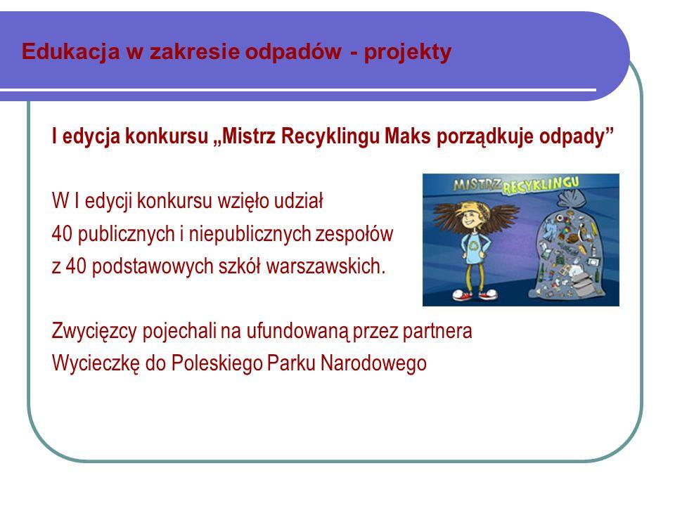 Edukacja w zakresie odpadów - projekty