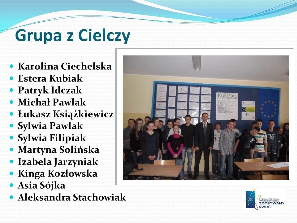 Grupa z Cielczy Karolina Ciechelska Estera Kubiak Patryk Idczak