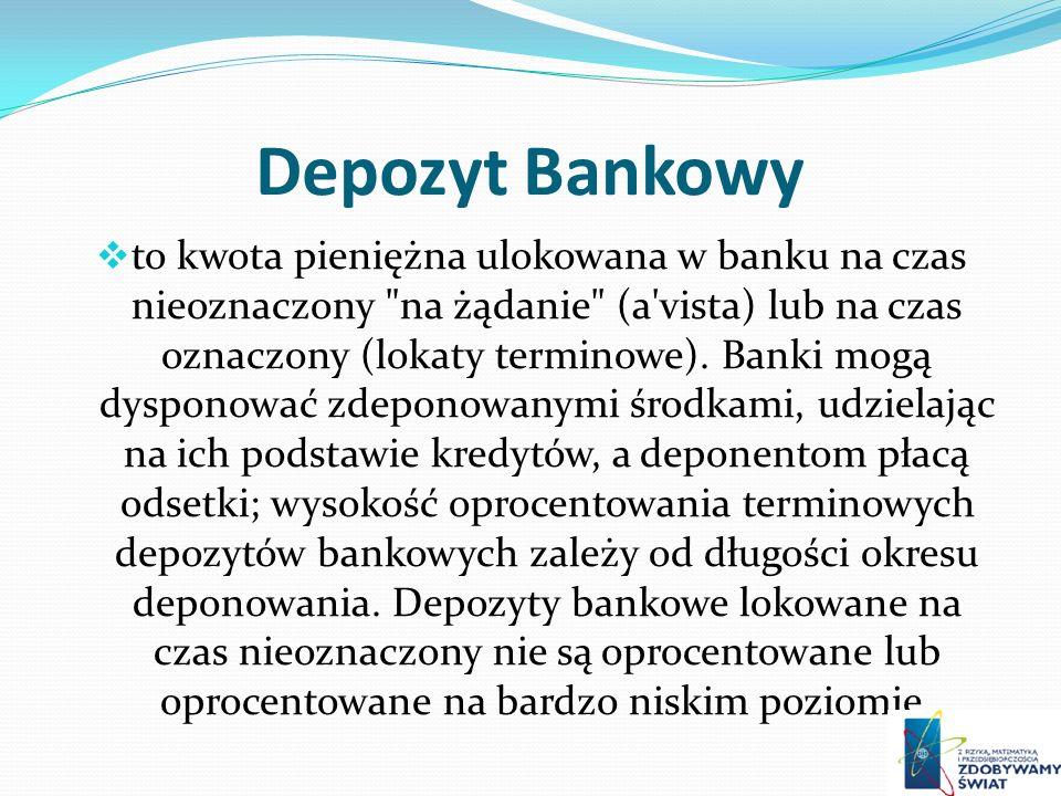 Depozyt Bankowy