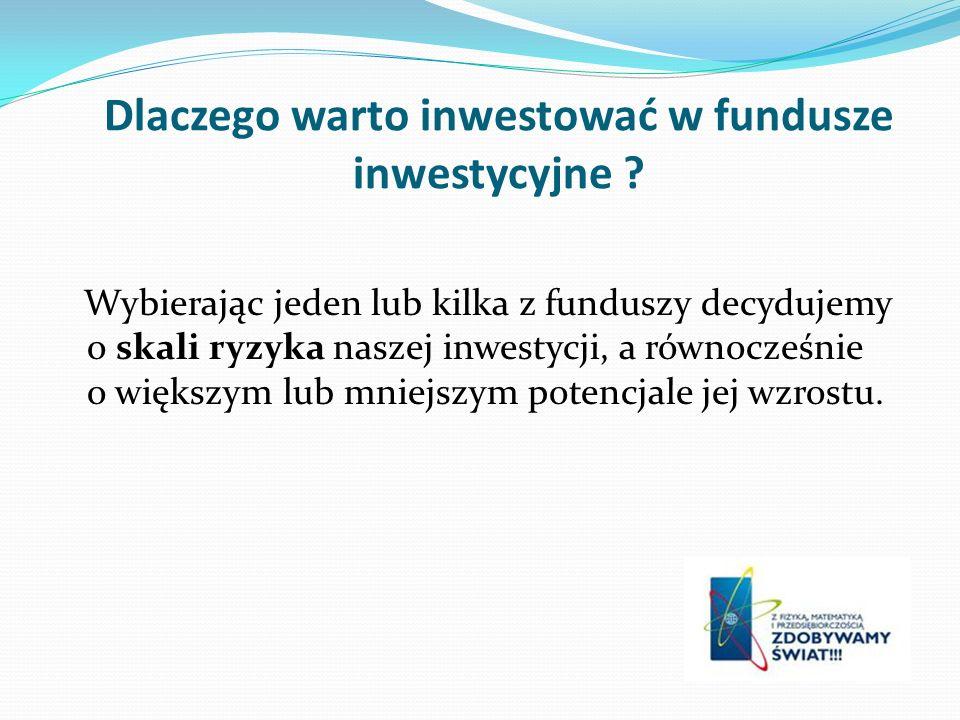 Dlaczego warto inwestować w fundusze inwestycyjne