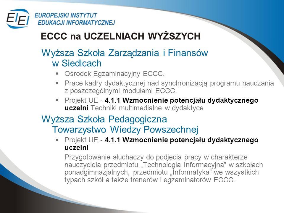 ECCC na UCZELNIACH WYŻSZYCH