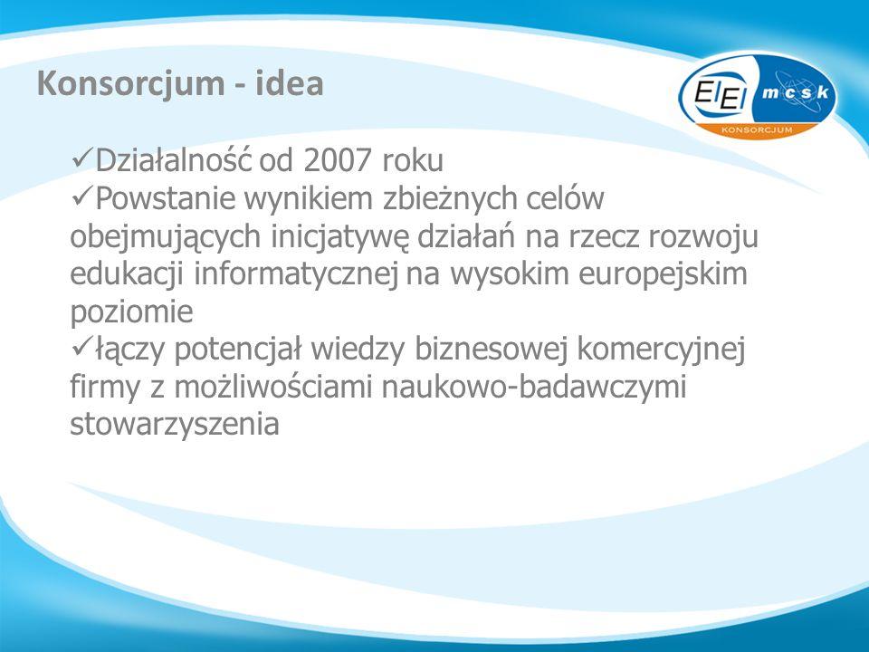 Konsorcjum - idea Działalność od 2007 roku