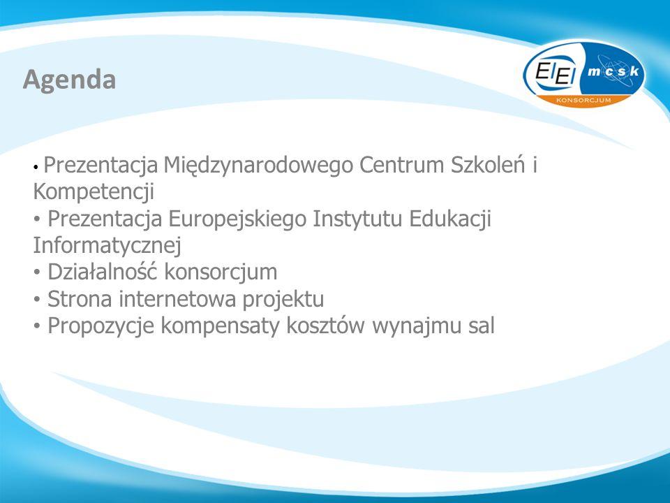 Agenda Prezentacja Europejskiego Instytutu Edukacji Informatycznej