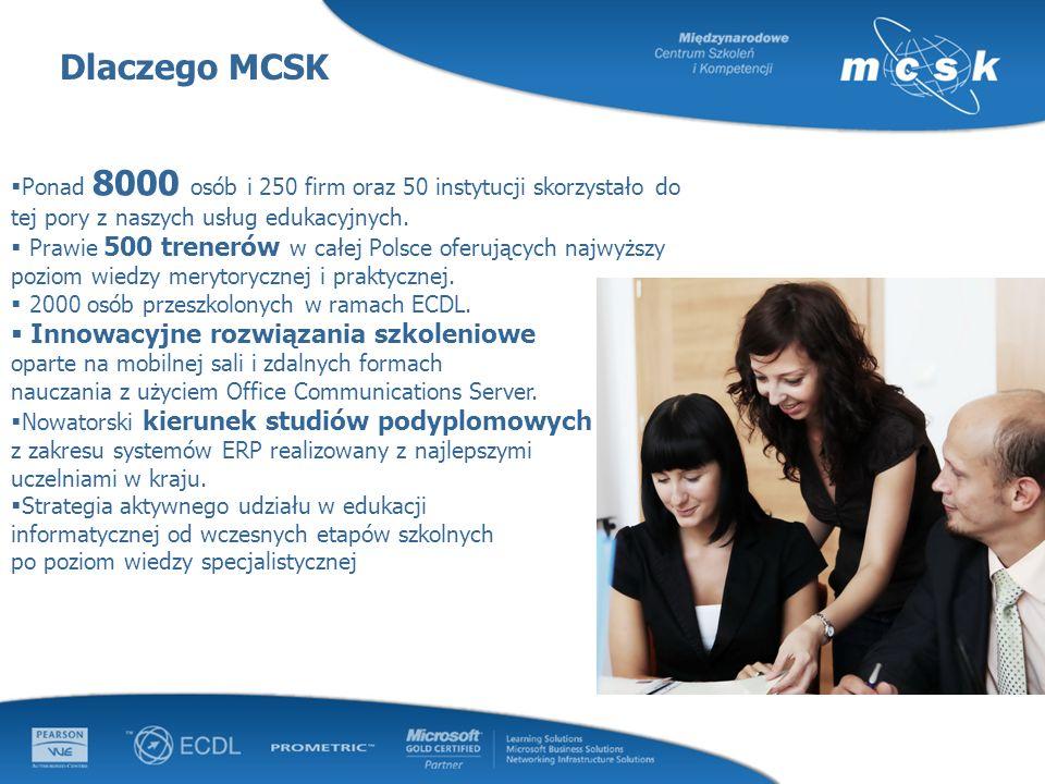 Dlaczego MCSK Innowacyjne rozwiązania szkoleniowe