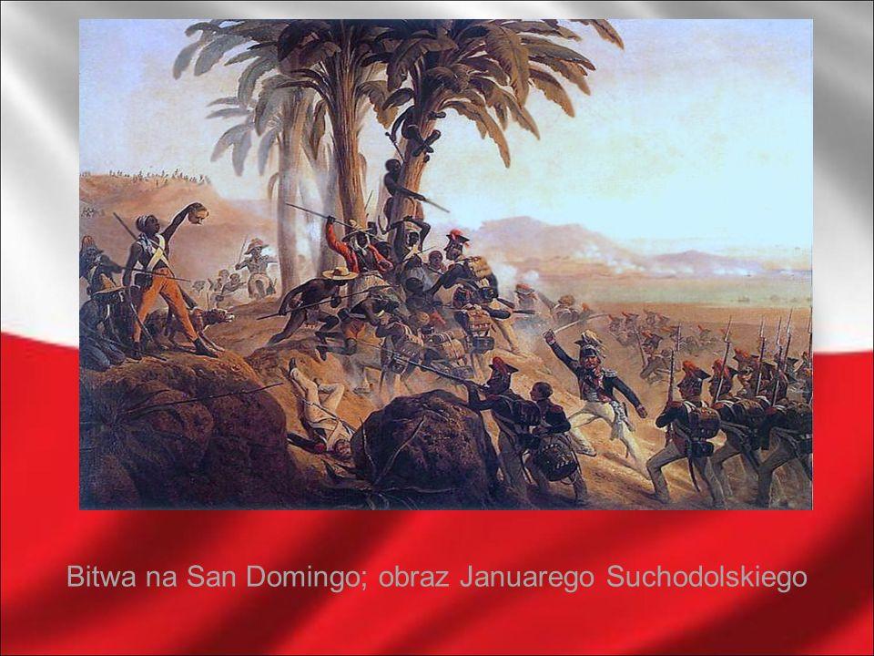 Bitwa na San Domingo; obraz Januarego Suchodolskiego