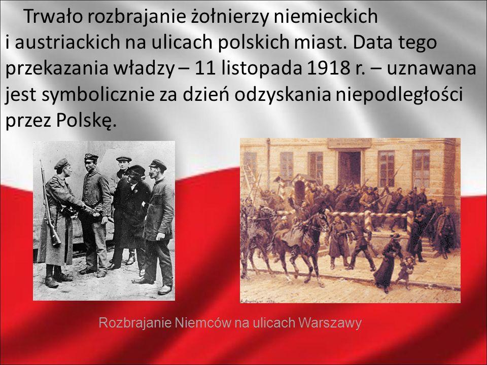 Rozbrajanie Niemców na ulicach Warszawy