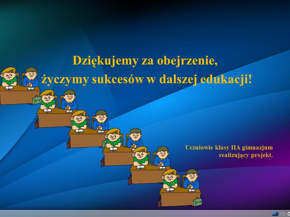 Dziękujemy za obejrzenie, życzymy sukcesów w dalszej edukacji!