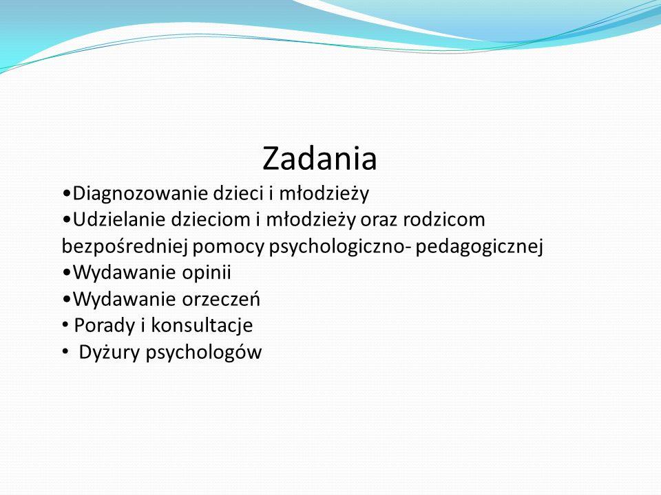 Zadania Diagnozowanie dzieci i młodzieży