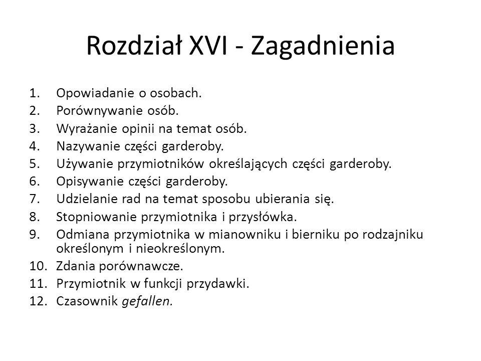 Rozdział XVI - Zagadnienia