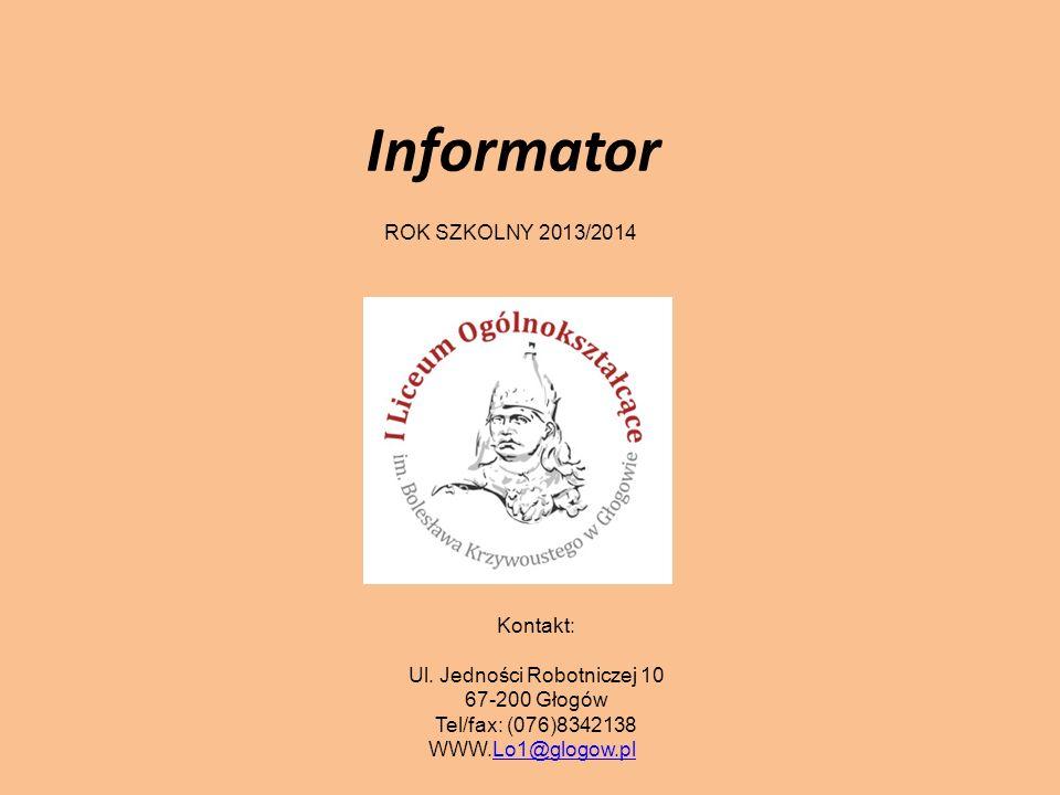 Informator ROK SZKOLNY 2013/2014