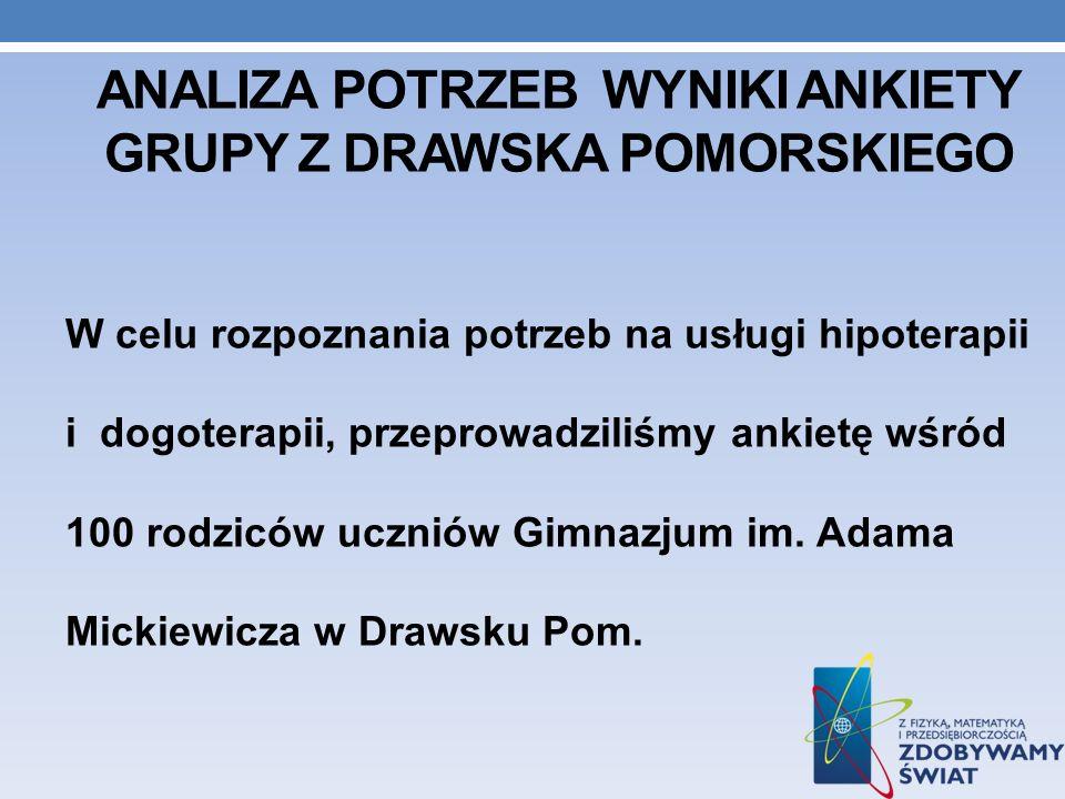 Analiza potrzeb wyniki ankiety grupy z DRAWSKA POMORSKIEGO