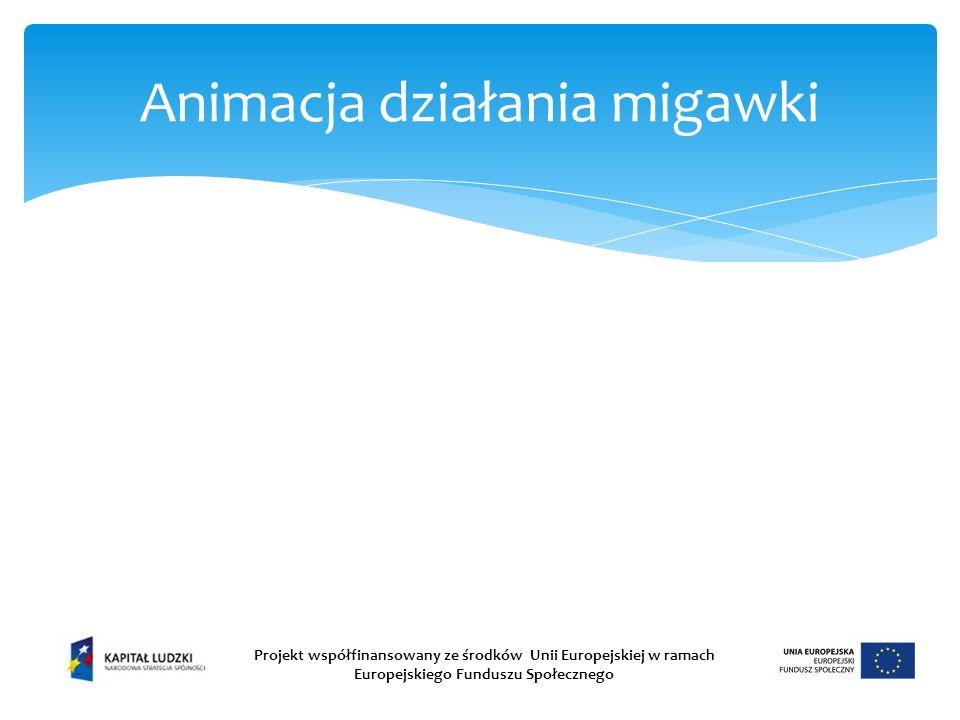Animacja działania migawki