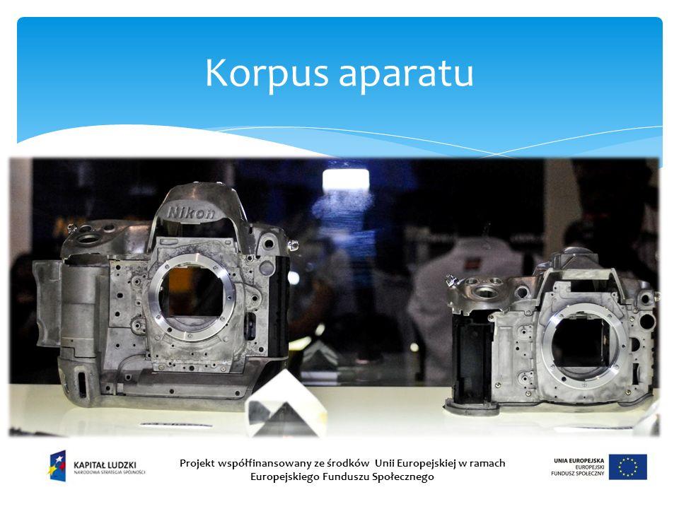 Korpus aparatu Projekt współfinansowany ze środków Unii Europejskiej w ramach Europejskiego Funduszu Społecznego.