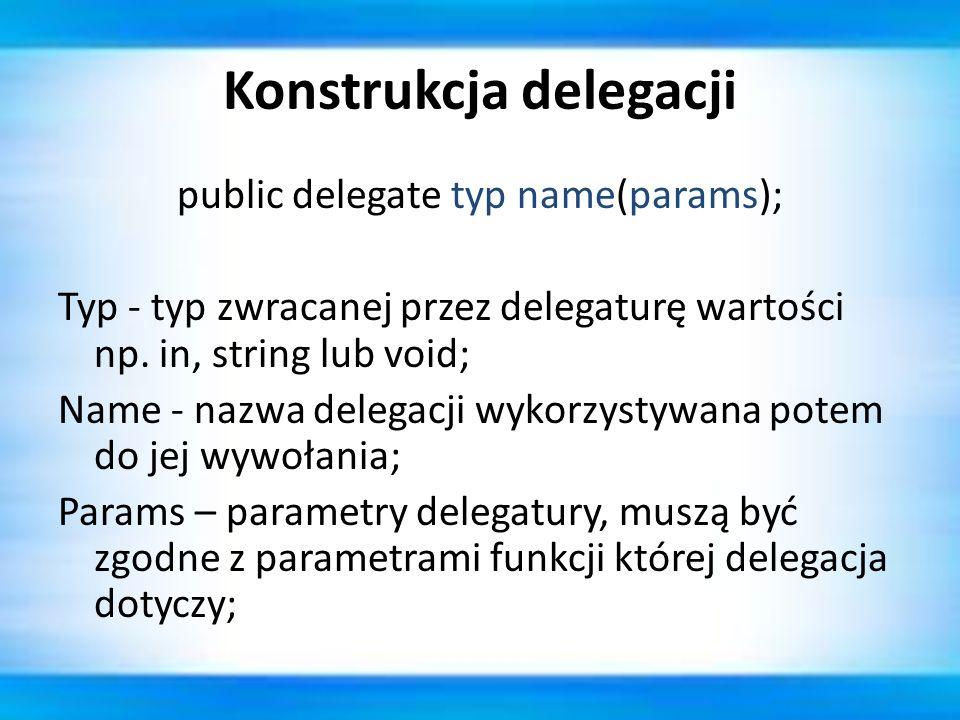 Konstrukcja delegacji