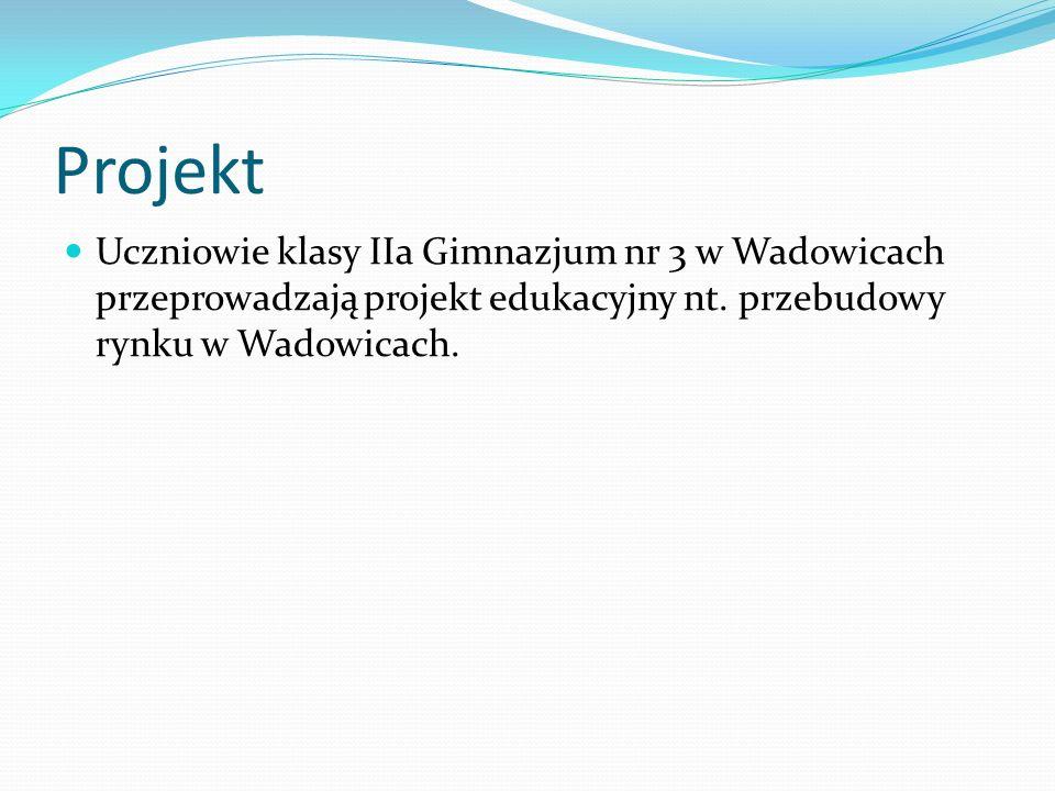 Projekt Uczniowie klasy IIa Gimnazjum nr 3 w Wadowicach przeprowadzają projekt edukacyjny nt.