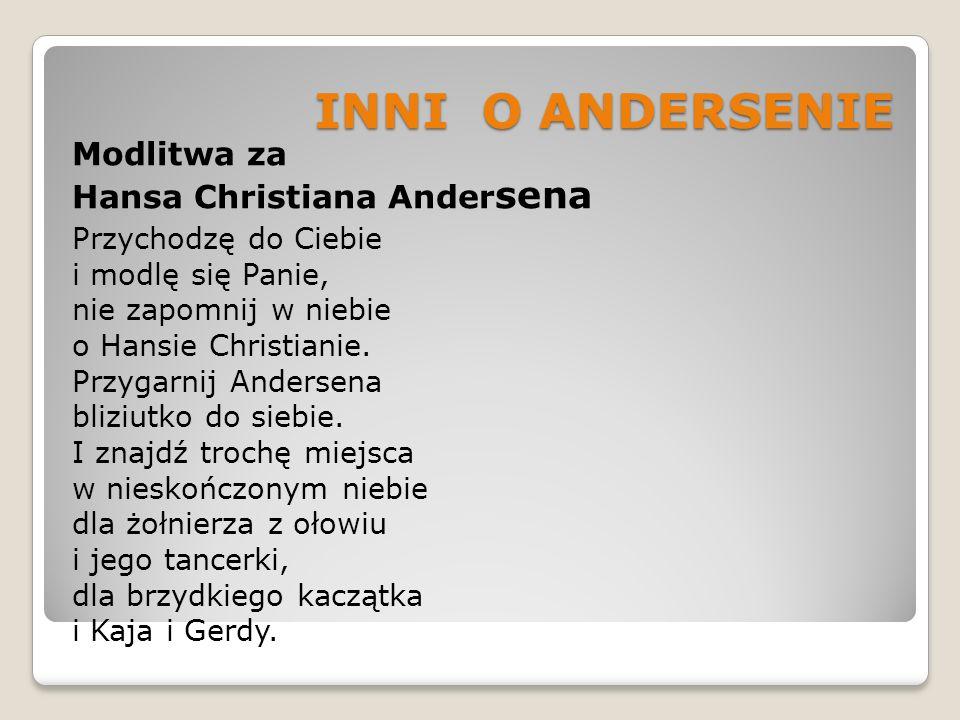 INNI O ANDERSENIE Modlitwa za Hansa Christiana Andersena