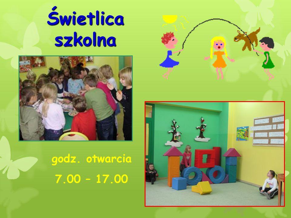 Świetlica szkolna godz. otwarcia 7.00 – 17.00