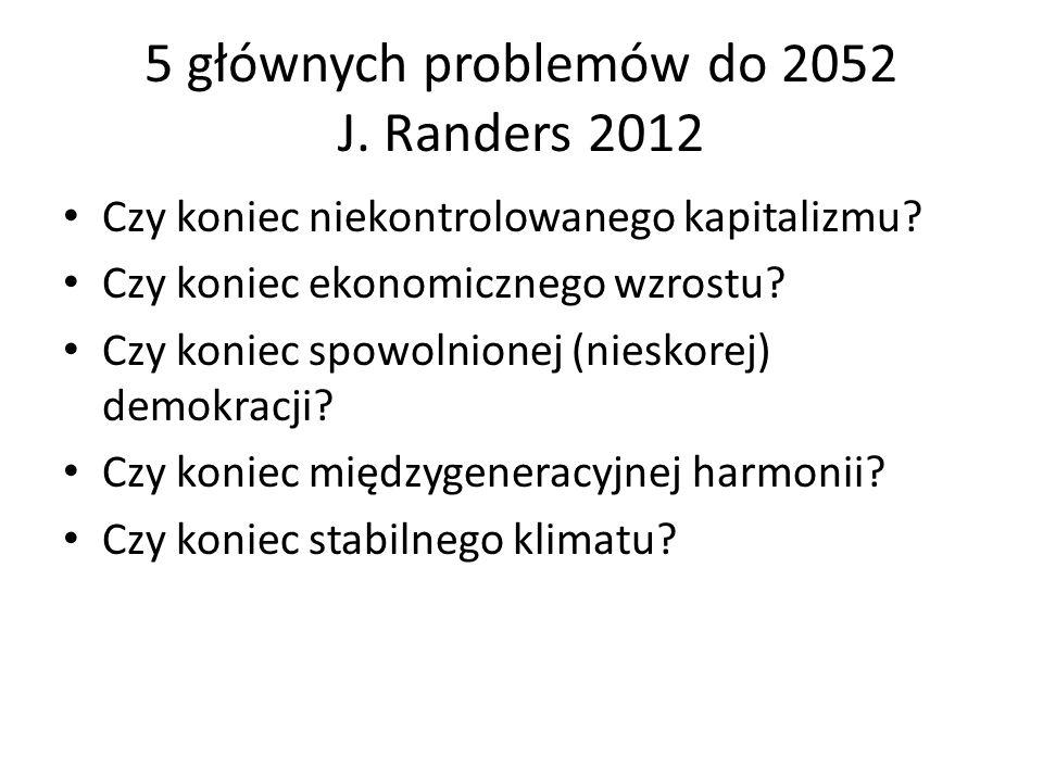 5 głównych problemów do 2052 J. Randers 2012