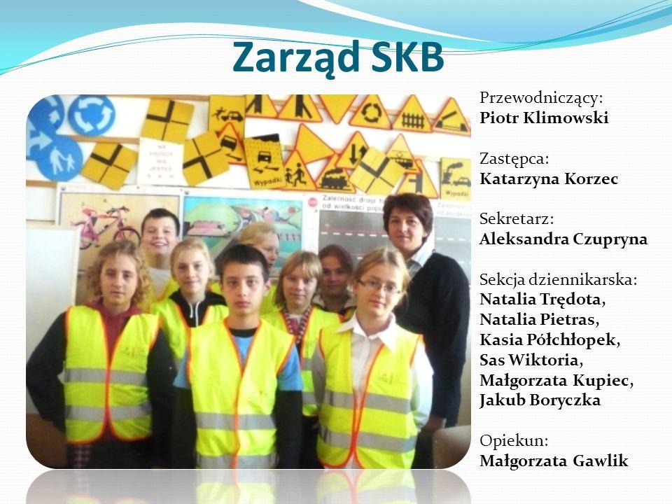 Zarząd SKB Przewodniczący: Piotr Klimowski Zastępca: Katarzyna Korzec