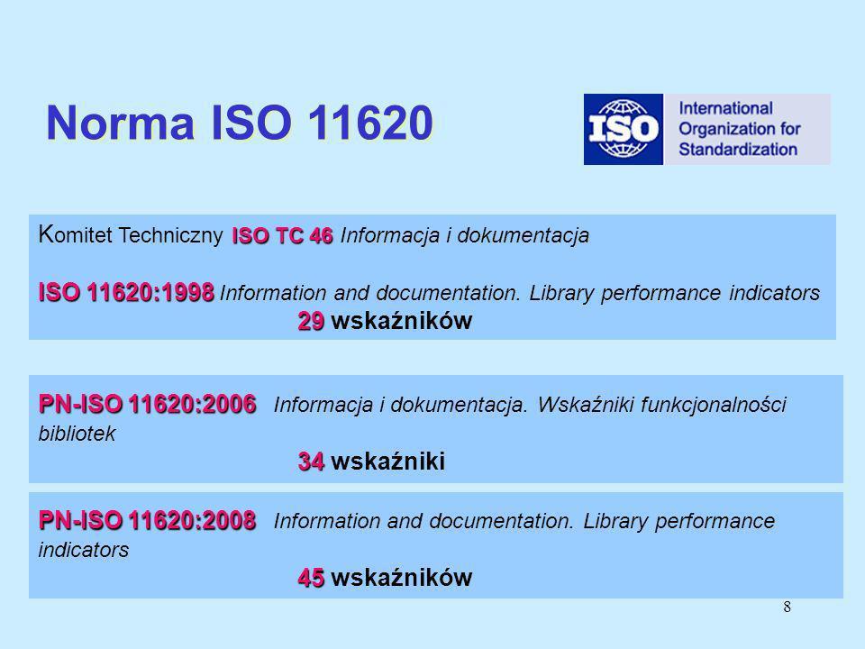 Norma ISO 11620 Komitet Techniczny ISO TC 46 Informacja i dokumentacja