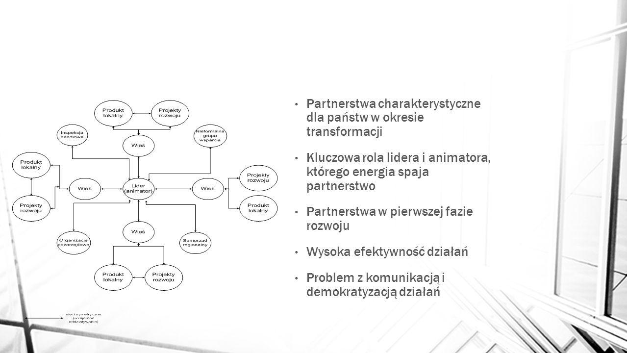 Partnerstwa charakterystyczne dla państw w okresie transformacji
