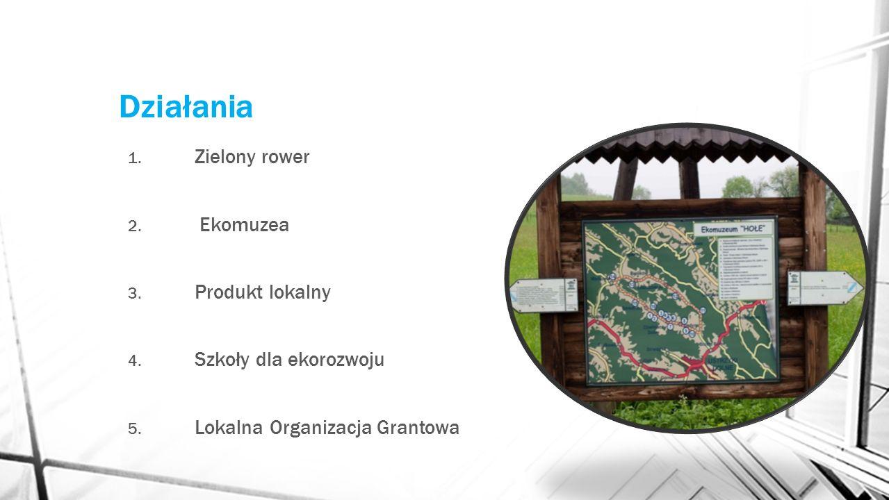 Działania Zielony rower Ekomuzea Produkt lokalny Szkoły dla ekorozwoju