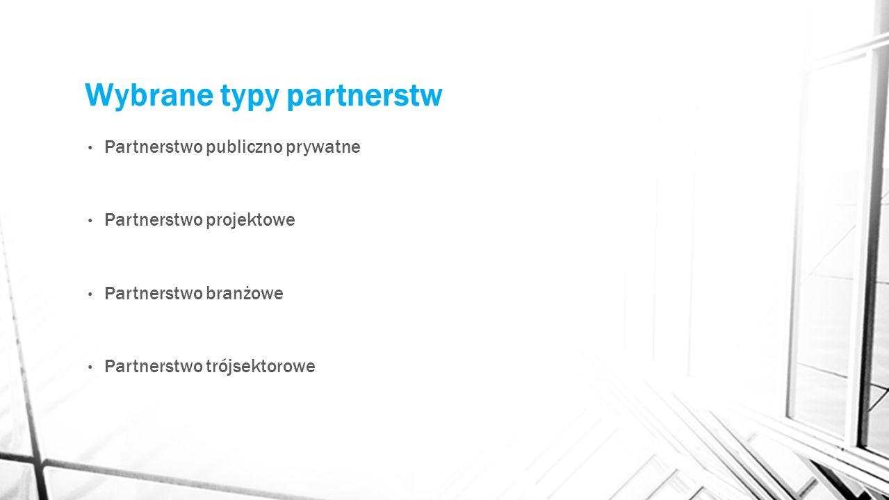 Wybrane typy partnerstw