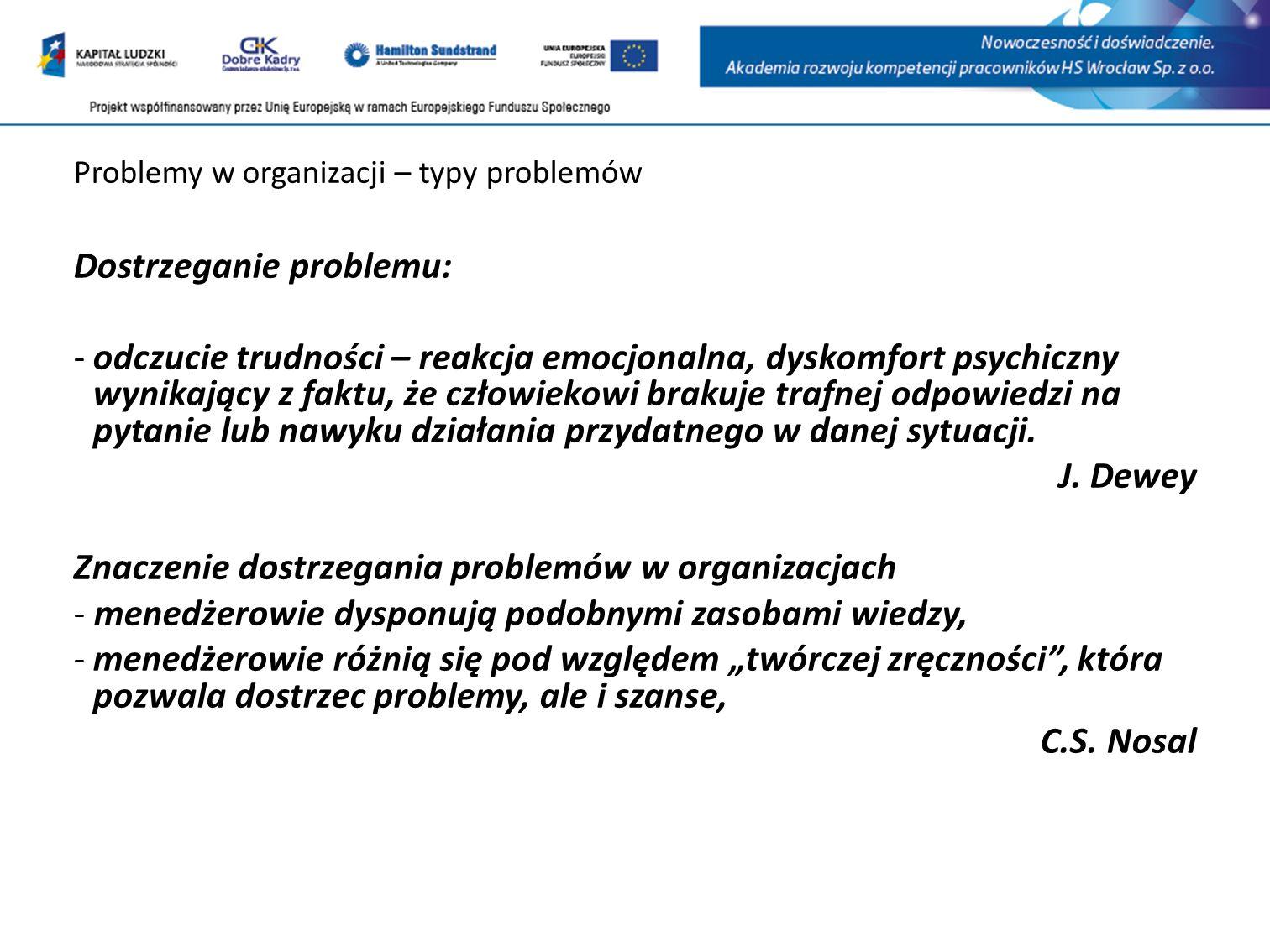 Problemy w organizacji – typy problemów