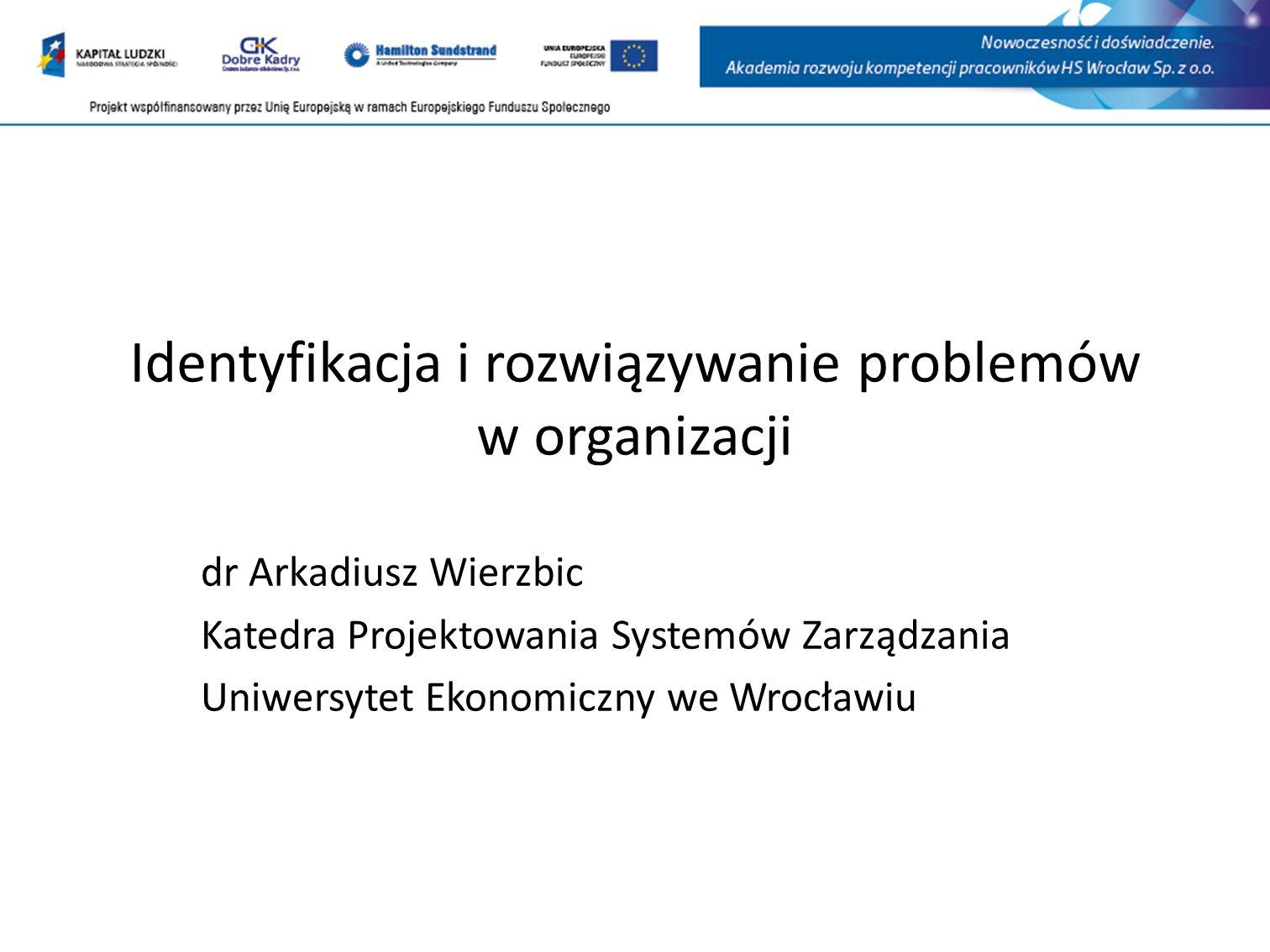 Identyfikacja i rozwiązywanie problemów w organizacji