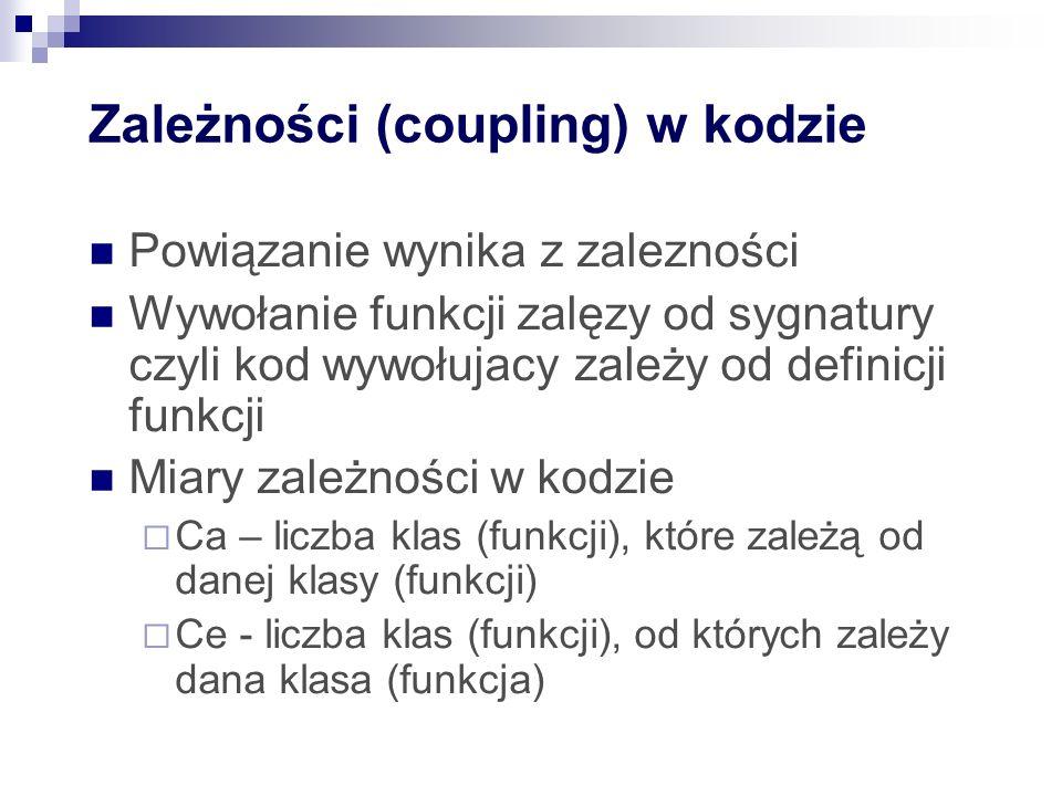 Zależności (coupling) w kodzie