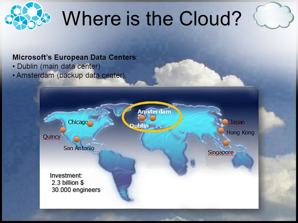 Where is the Cloud Microsoft's European Data Centers: