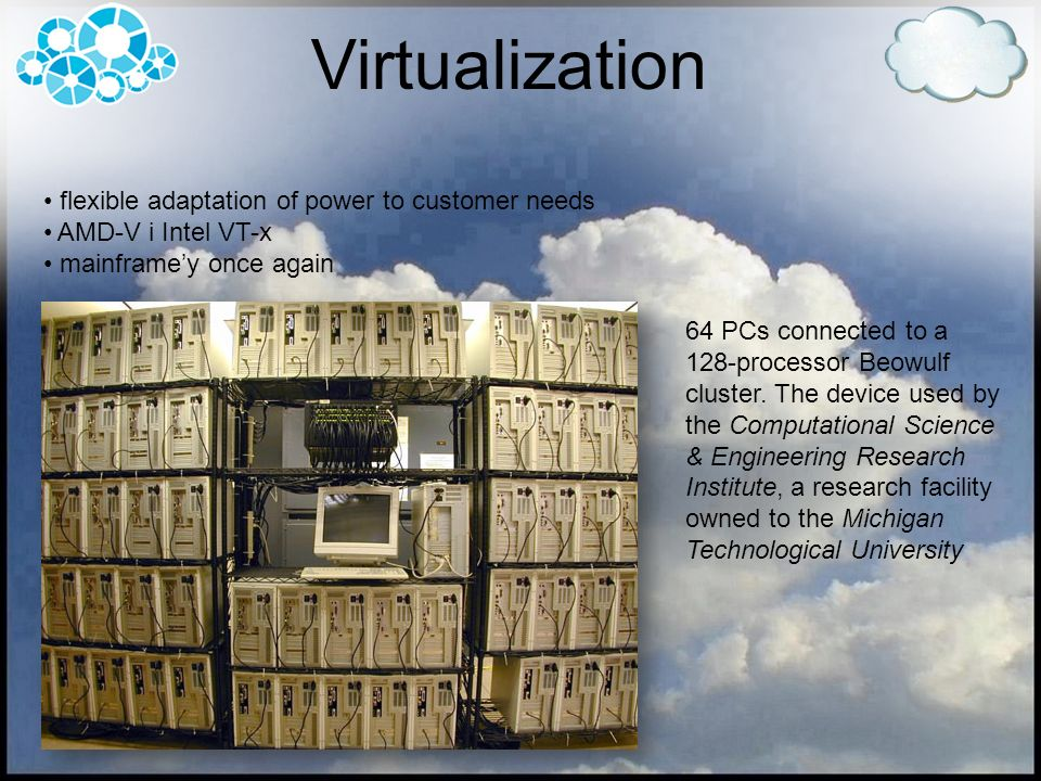 Virtualization flexible adaptation of power to customer needs