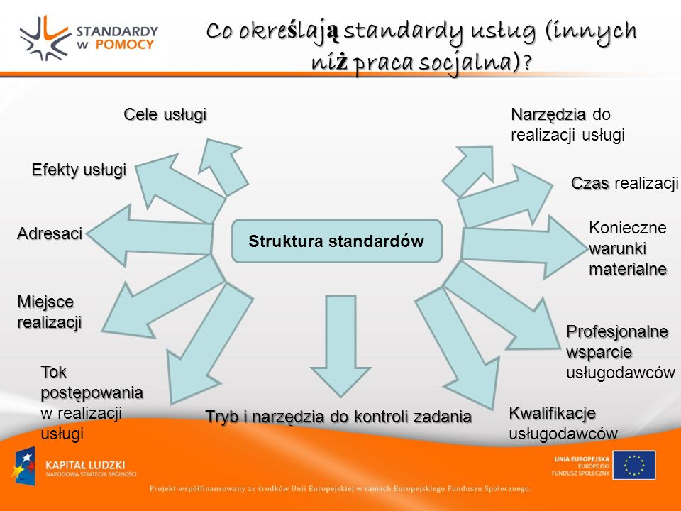 Co określają standardy usług (innych niż praca socjalna)