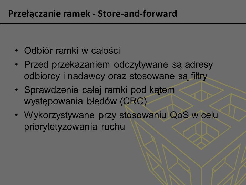Przełączanie ramek - Store-and-forward