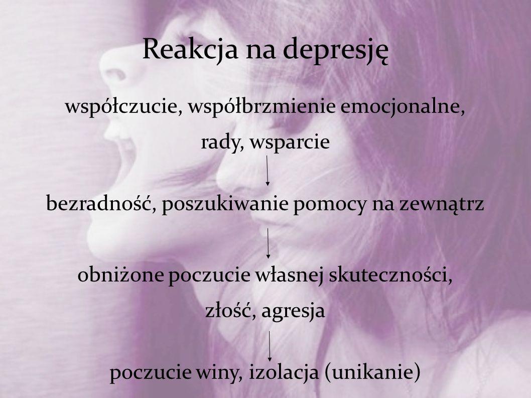 Reakcja na depresję współczucie, współbrzmienie emocjonalne,