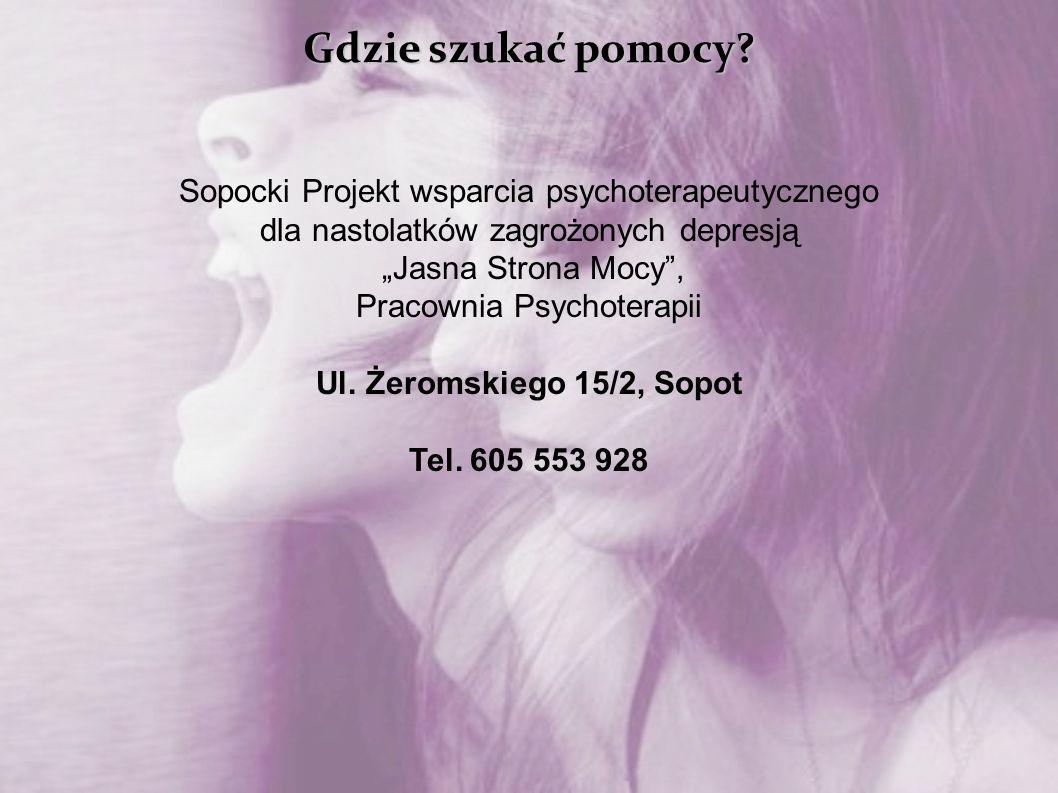 Gdzie szukać pomocy Sopocki Projekt wsparcia psychoterapeutycznego