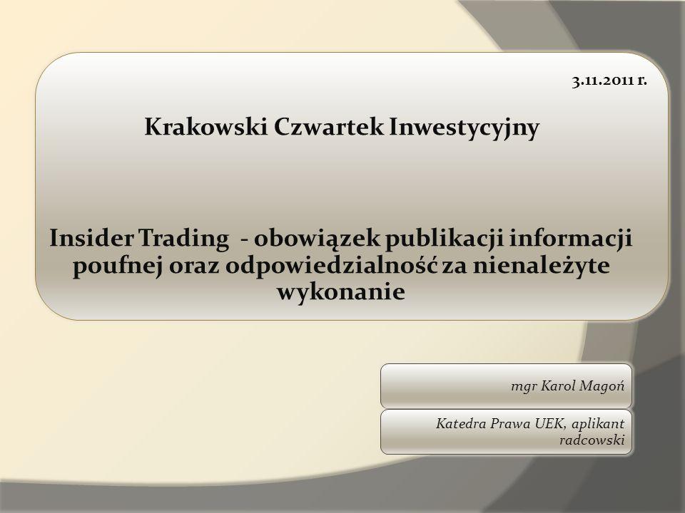 Krakowski Czwartek Inwestycyjny
