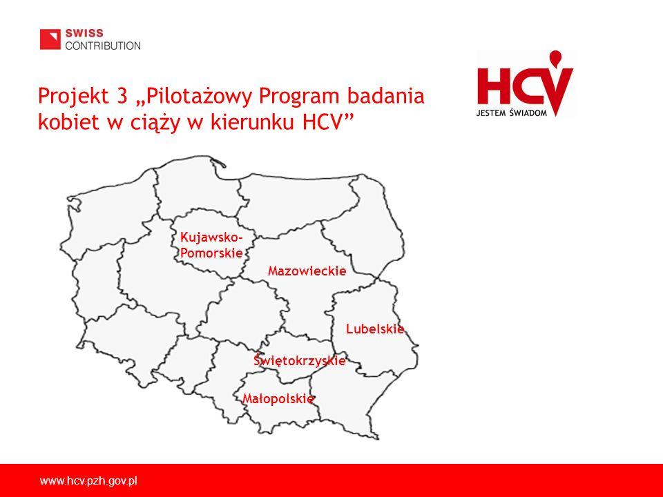 """Projekt 3 """"Pilotażowy Program badania kobiet w ciąży w kierunku HCV"""