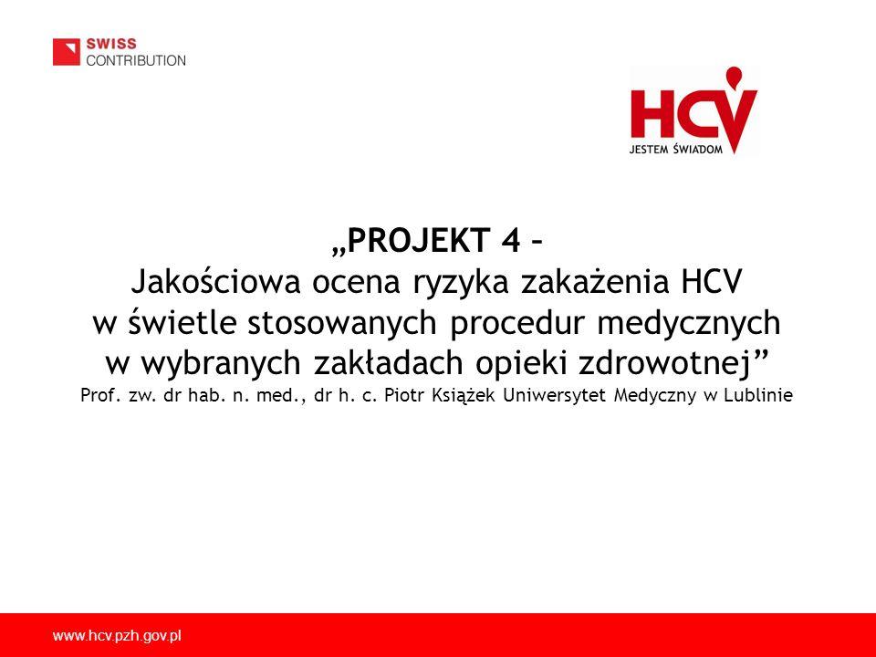 Jakościowa ocena ryzyka zakażenia HCV