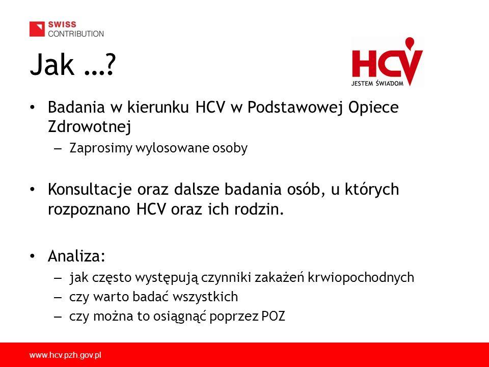 Jak … Badania w kierunku HCV w Podstawowej Opiece Zdrowotnej