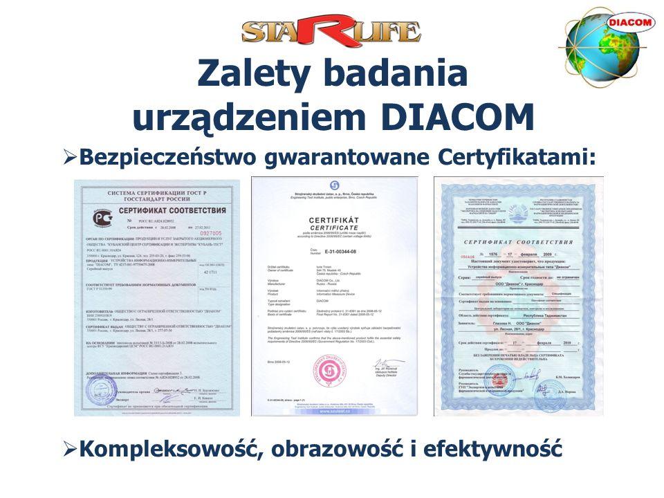 Zalety badania urządzeniem DIACOM