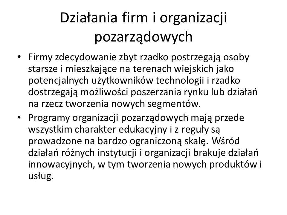 Działania firm i organizacji pozarządowych