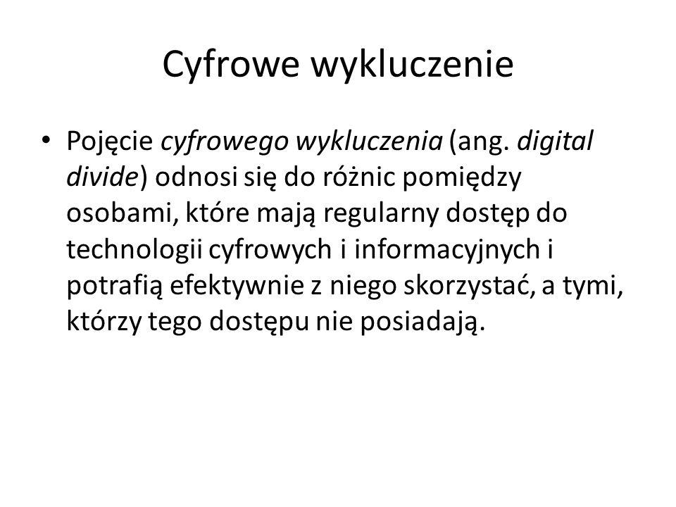 Cyfrowe wykluczenie