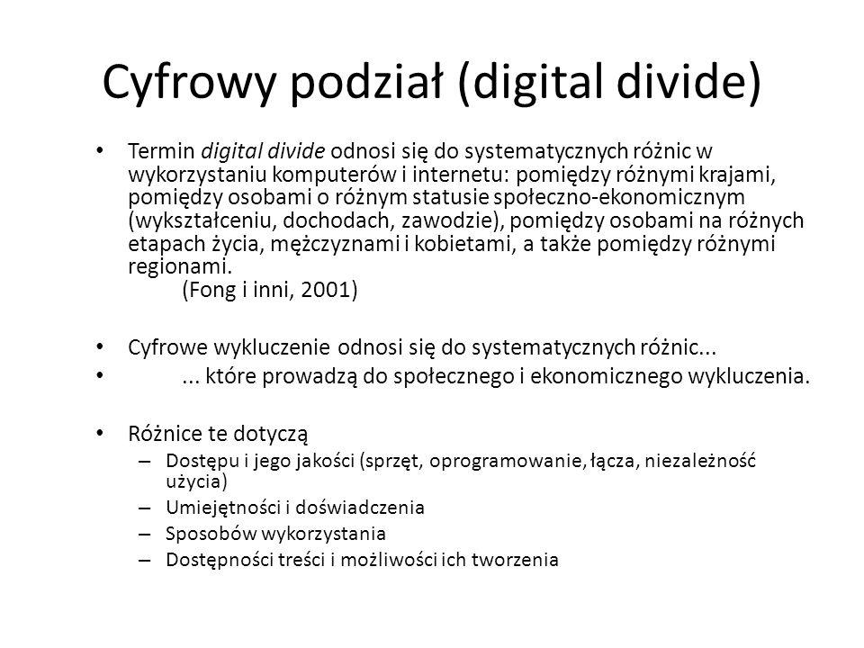Cyfrowy podział (digital divide)