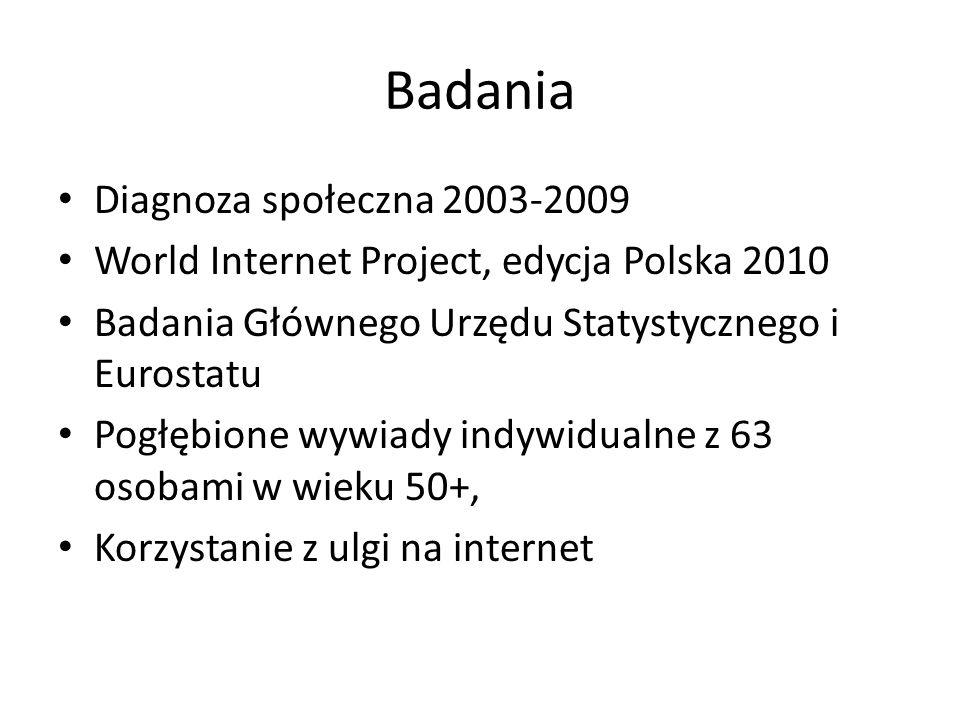 Badania Diagnoza społeczna 2003-2009