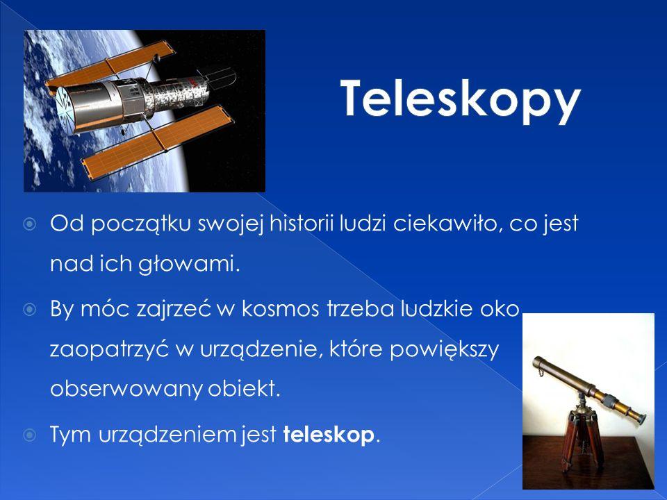 Teleskopy Od początku swojej historii ludzi ciekawiło, co jest nad ich głowami.