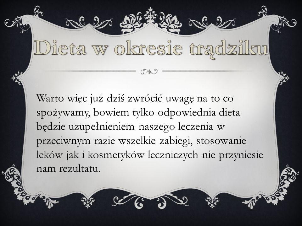 Dieta w okresie trądziku