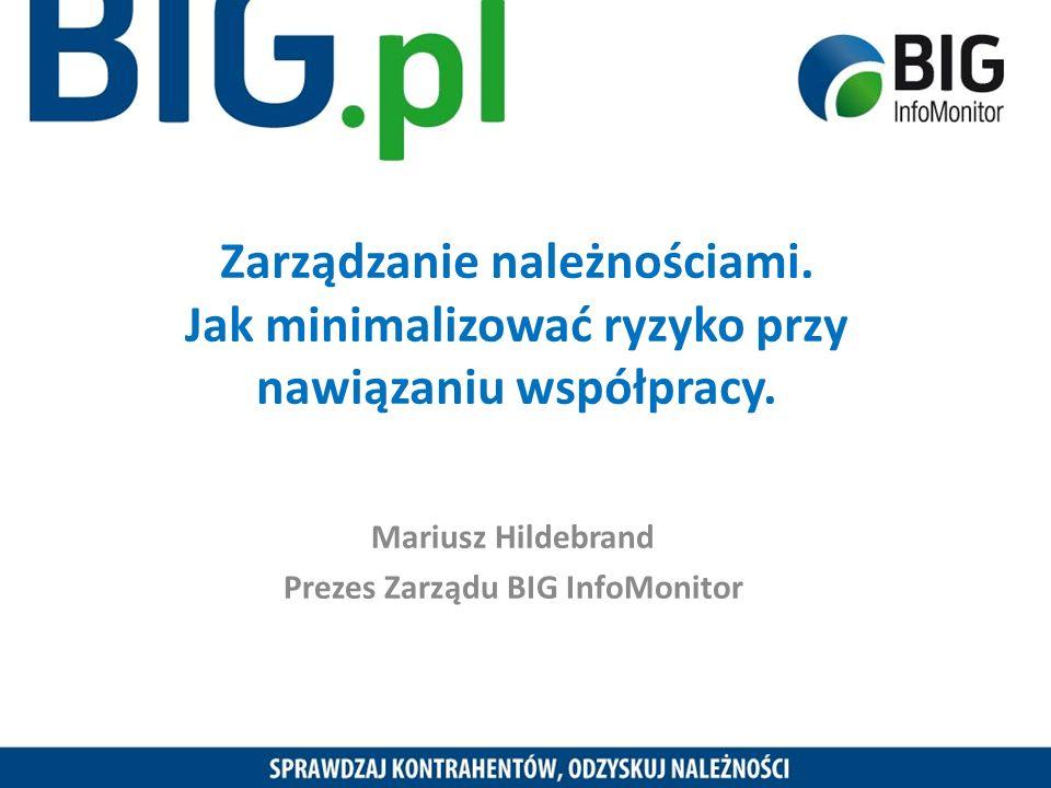 Mariusz Hildebrand Prezes Zarządu BIG InfoMonitor